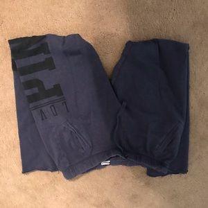 Victoria Secret size M blue comfy pants
